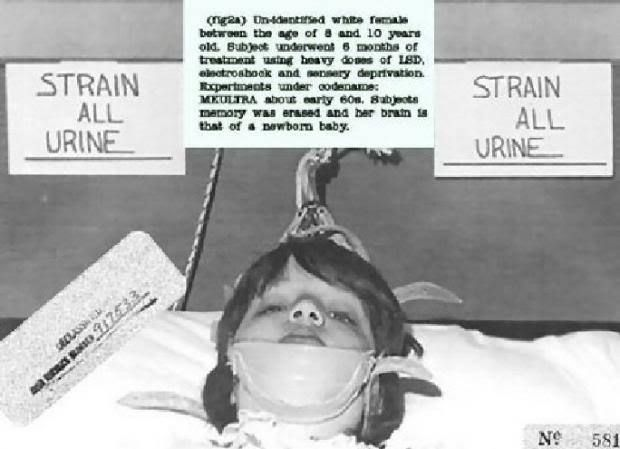 Reportedly the now-famous photo of the little girl strapped down to a table under a sign saying STRAIN ALL URINE, first surfaced on a Ja...
