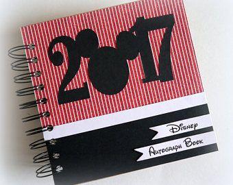 NUEVO diseño personalizado personalizados Disney libro de autógrafos Scrapbook viaje diario vacaciones foto libro S984