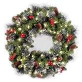 Found it at Wayfair - Crestwood Spruce Pre-Lit Wreath with Clear Lights