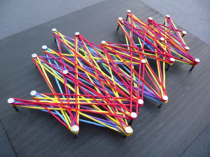 String Art-Random and Geometric Designs