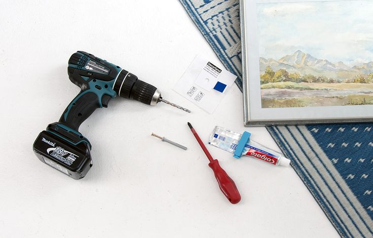Step 1 Hanging a Framed Picture with tooth paste - find more ideas on bthings.me