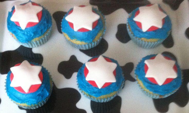 Capitán América cupcakes