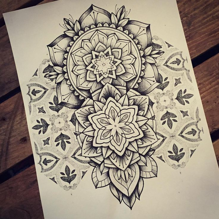 Tattoo By Miss Sita Mandala Pattern Dotwork Flash Tattoo
