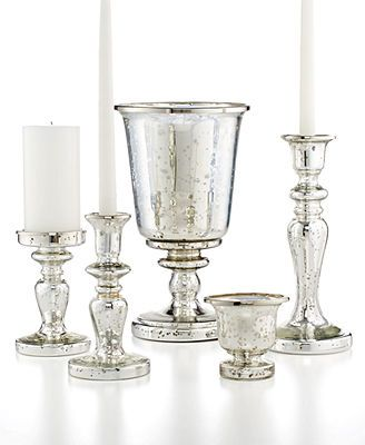 The  Best Mercury Glass Candle Holders Ideas On
