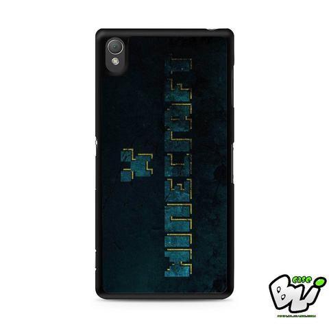 Blue Minecraft Logo Sony Experia Z3,Z4,Z5,C3,C4,E4,M4,T3 Case,Sony Z3,Z4,Z5 MINI Compact Case