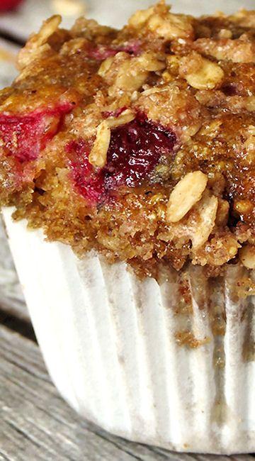 Cranberry Pumpkin Oatmeal Muffins