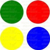 Individual Cut Vinyl Circles (set of 4)