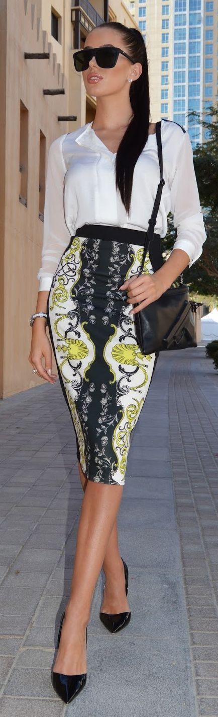 Skirt 'n' Shirt Outfit Idea by Laura Badura Fashion