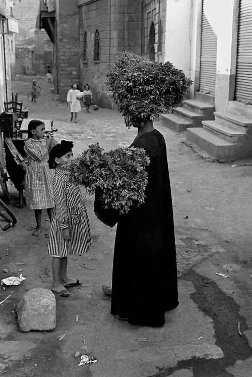 semioticapocalypse:  Frank Horvat. Herb vendor in Cairo, Egypt. 1962 [::SemAp FB || SemAp G+::]