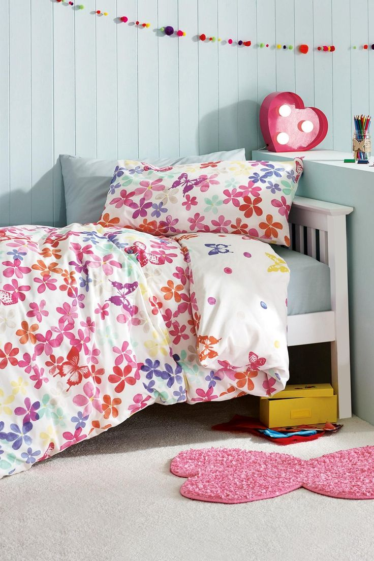 Buy Two Pack Watercolour Butterfly Printed Bed Set from the Next UK online shop