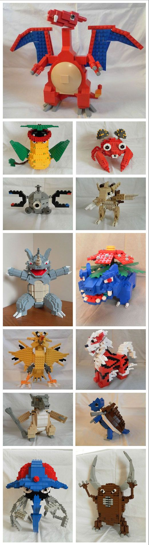 """A bunch of LEGO Pokemon I built"" - I donut exist"