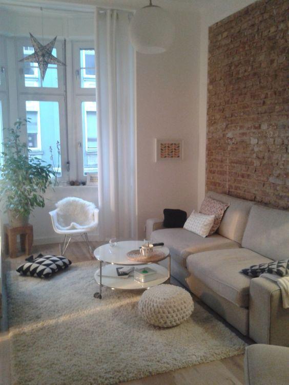 die besten 25 steinwand im wohnzimmer ideen auf pinterest. Black Bedroom Furniture Sets. Home Design Ideas