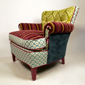Love this chair...makes me think I'm in Wonderland!: Decor, Chairs Love Chairs, Idea, Pattern, Color, Fabric, Furniture, Cool Chairs