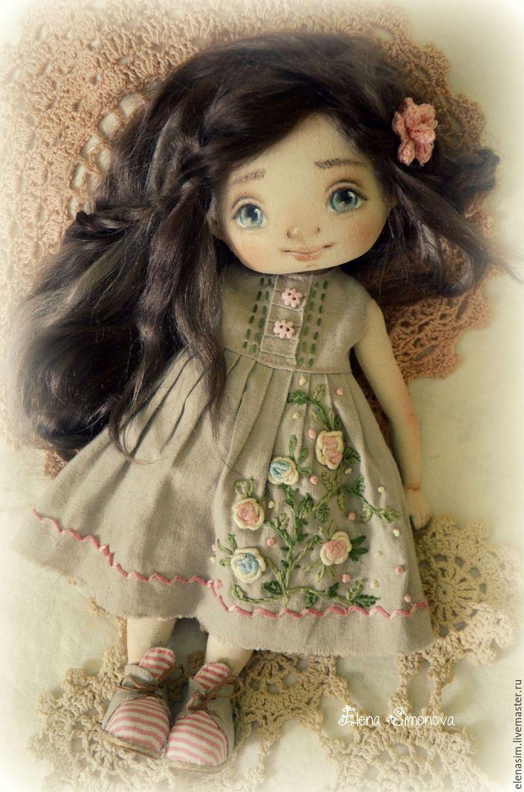 Купить Розочка - бежевый, текстильная кукла, кукла ручной работы, ручная работа, коллекционная кукла