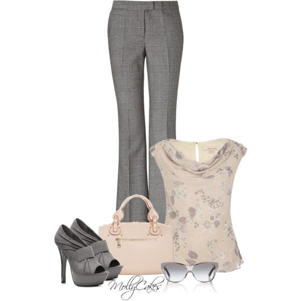 """""""Summer Office Wear"""" by mollycakes on Polyvore"""