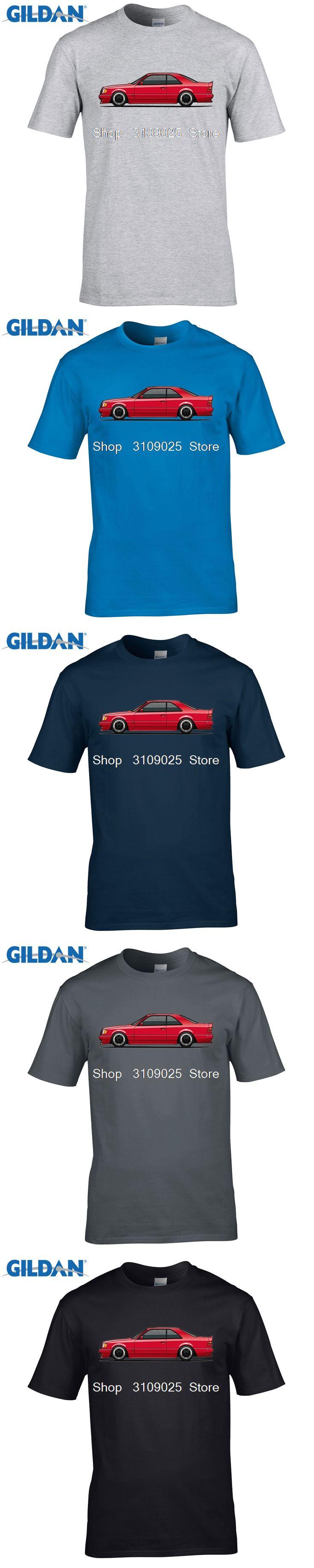 GILDAN customised t-shirts Mercedes 300CE W124 AMG Man T Shirt O Neck Tshirt Boy Teeshirt 2017 Funny T-shirt For Guy
