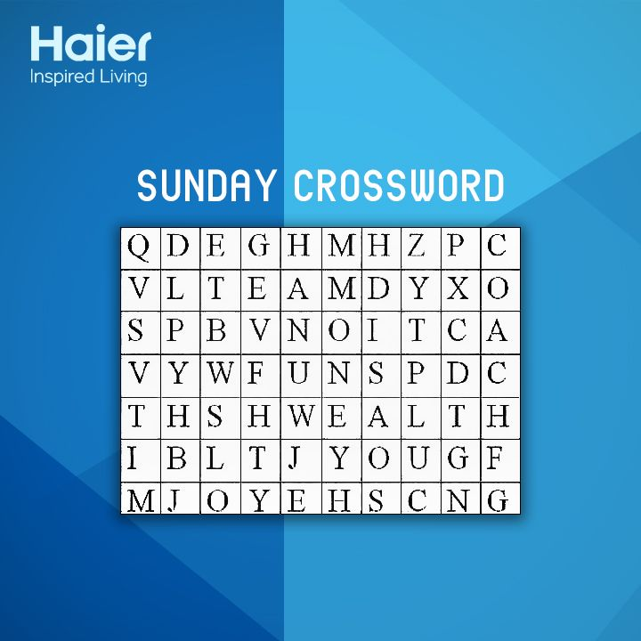 It's #SundayFun time! Share the first word you find in the grid below.