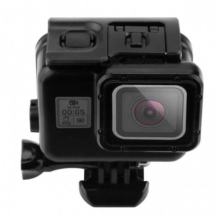 45m Underwater Waterproof Case for Gopro Hero 5 Sport Camera - Black - Free Shipping - DealExtreme