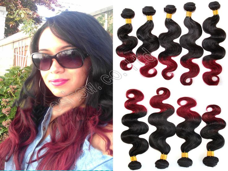 Remi Hair Extensions Ombre Hair BRAZILIAN Virgin Body Wave Human Hair 2pcs/lot #WIGISS #HairExtension