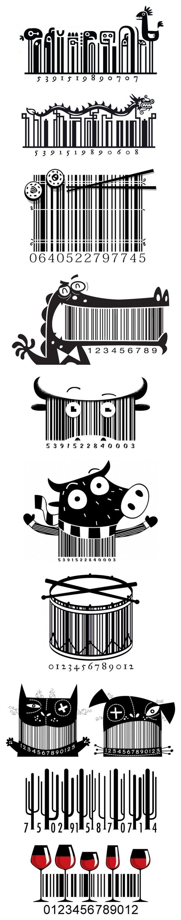Steve Simpson: Illustrated Bar Codes (UPC)