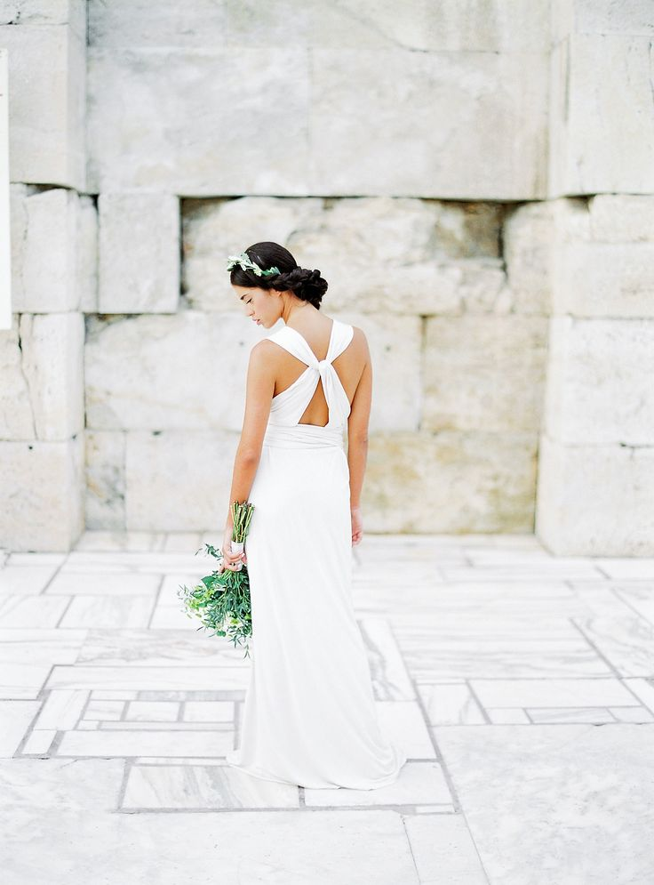 Photography : Sotiris Tsakanikas | Wedding Dress : Parthenis Read More on SMP: http://www.stylemepretty.com/destination-weddings/2017/01/20/wedding-inspiration-that-will-light-a-fire-under-your-wanderlust/
