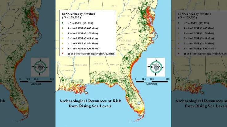 Rising Seas Could Submerge The Oldest English Settlement In The - Site elevation amsl