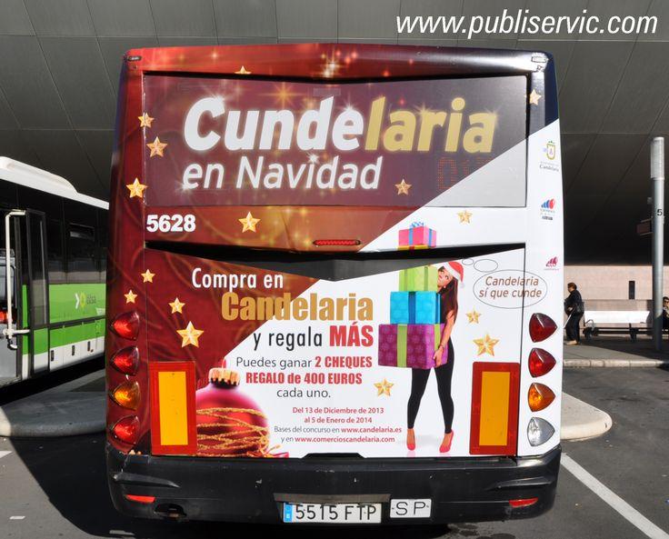 Rotulación Ayuntamiento de Candelaria. Contacta con nosotros en el 922 646 824 o vía email a mailto:comercial@... #publiservic #rotulacion #autobus