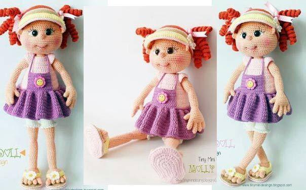 Вязаная крючком кукла Молли. Описание
