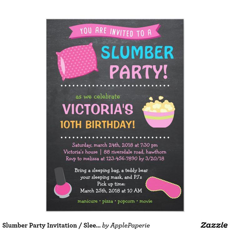 Best 25+ Slumber party invitations ideas on Pinterest | Birthday ...