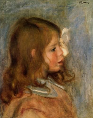 Jean Renoir - Pierre-Auguste Renoir // she reminds me of my little sister as a girl