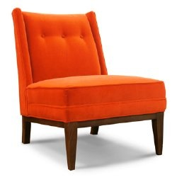 orange chair . . . because I have this overwhelming addiction to orange chairs. no, really . . .