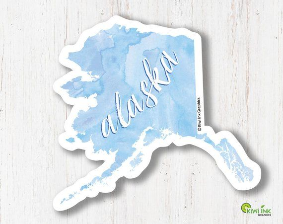 Alaska, Alaska Sticker, State Stickers, Travel Stickers