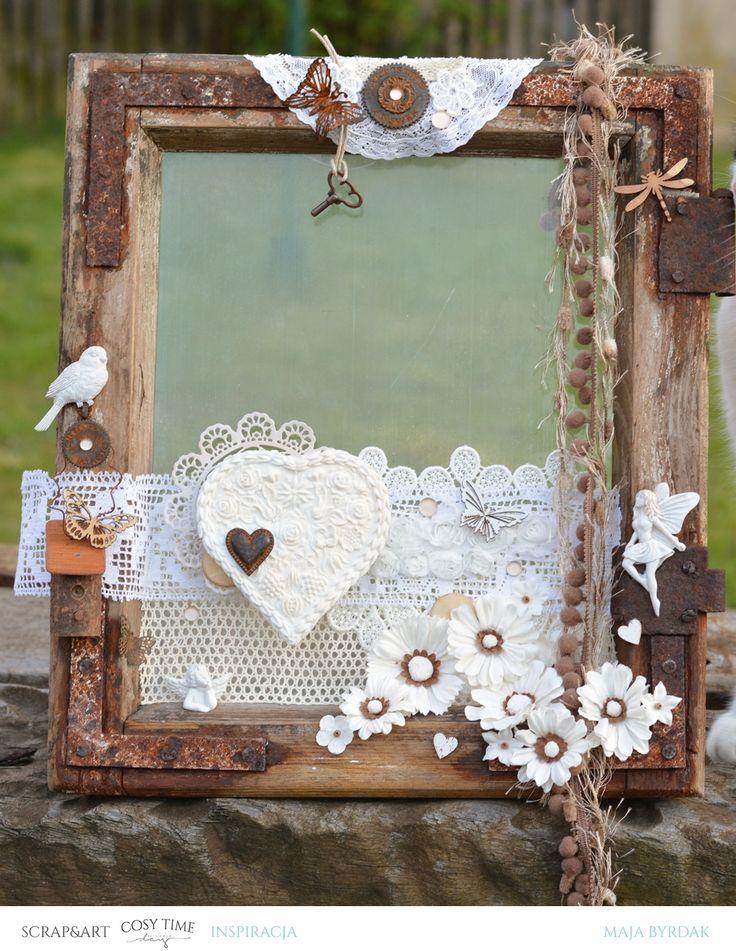 Wszystkie dodatki do stworzenia własnego okienka można znaleźć w Scrap & Art.