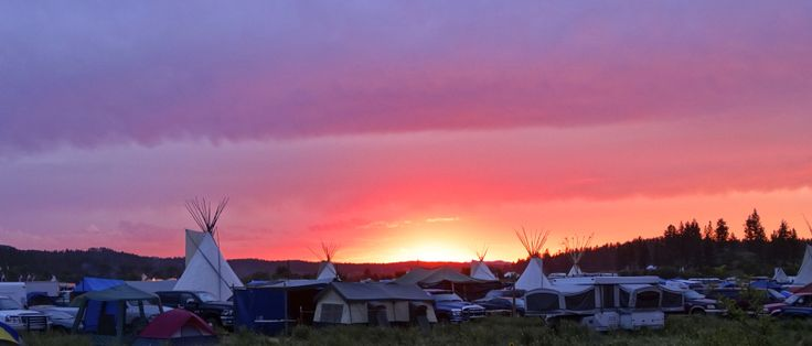 Sundown at 2013 Northern Cheyenne Powwow at Lame Deer Montana