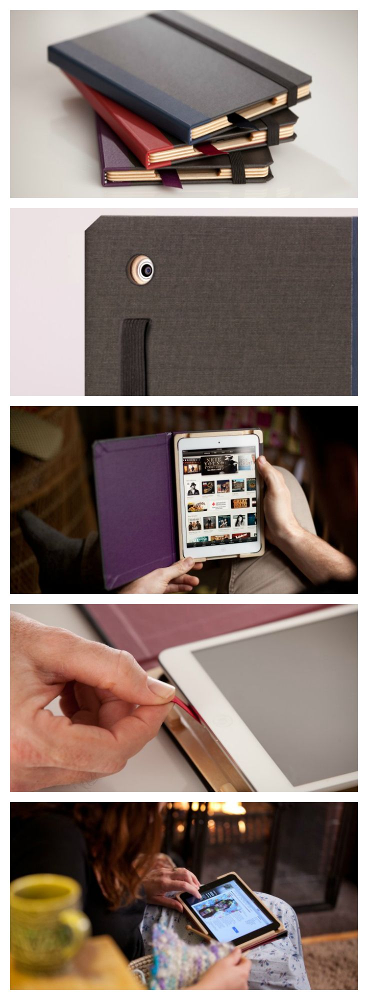 "Graduate Series iPad Mini Case. A handmade two-tone bindery cloth-covered case that protects and disguises your iPad mini with artistic style  FREE domestic shipping with any additional PQ case or accessory, like The Nest  ""...the tome-like bindings might actually fool some into thinking this is a real book and not a highly valuable piece of consumer electronics"" - Charlie S., Wired.com"