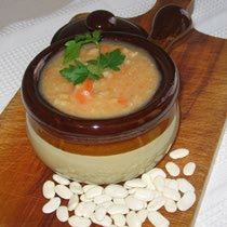 Serbian Meatless White Bean Soup - Pasulj - with Tetovac Beans in the Foreground (dairy and egg free)