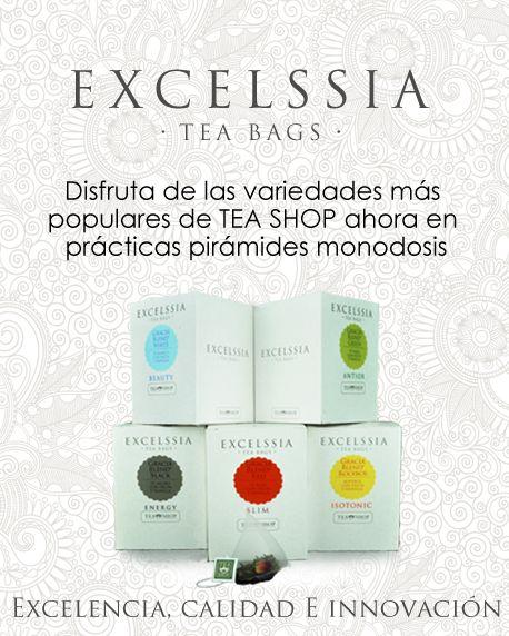 Excelssia, prácticas pirámides monodosis de té con la alta calidad de siempre, ahora con un precio más económico.