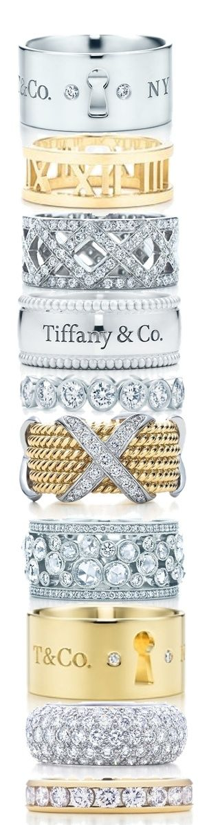 ♔ Tiffany Stack Rings