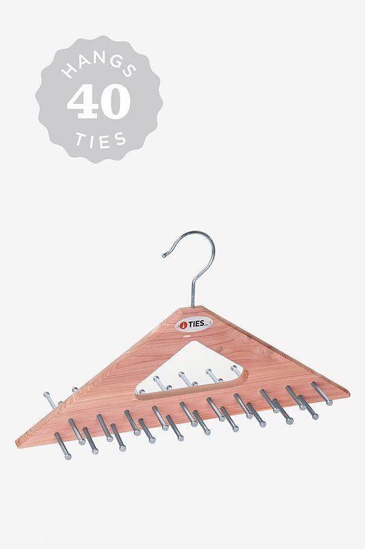 Cedar Tie Hanger Tie Rack