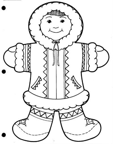 Coloring winter animals : Coloring Page Of Winter Clothes Home