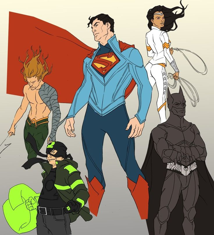 Note: Although he's not finished on the colors, I couldn't wait in showing off this sooped-up take on DC's Justice League by artist Rob Nix. I love seeing him borrow elements from across each character's long history to create these gestalt designs, especi