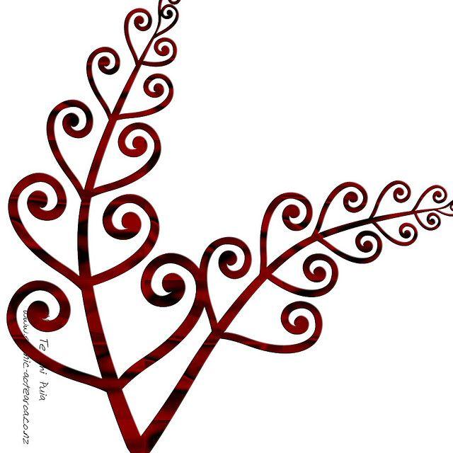 Maori design fern or koru design. Like the simplicity