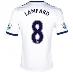 13-14 Chelsea #8 LAMPARD White Away Soccer Jersey Shirt