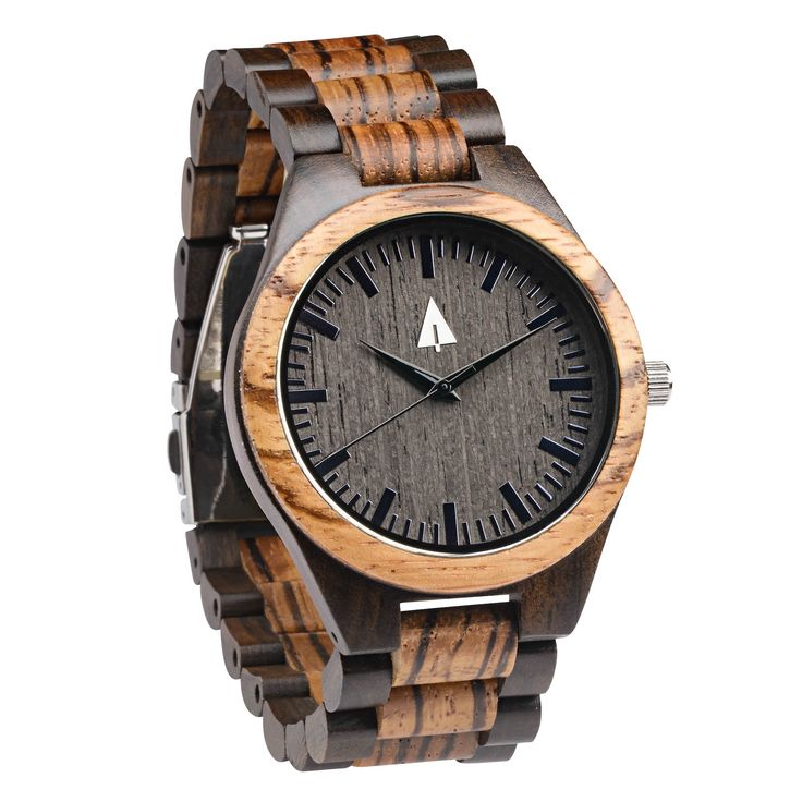 This #Treehut zebrawood watch has a genuine wood band, a gorgeous ebony wood face, and is handmade in San Francisco. Personalized engraving available. Great anniversary, wedding, or just-because gift idea!