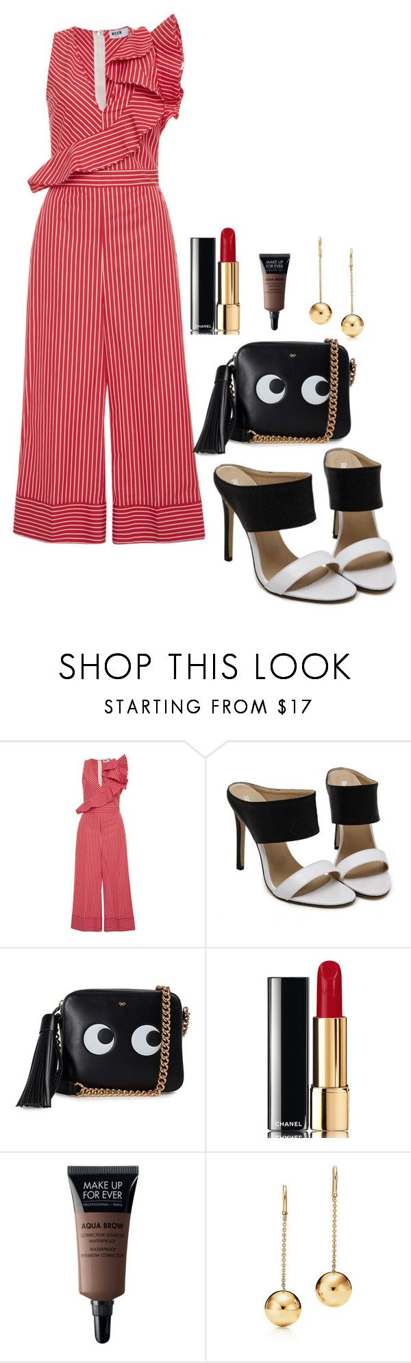 """marianne"" by nover on Polyvore featuring MSGM, Anya Hindmarch and Chanel"