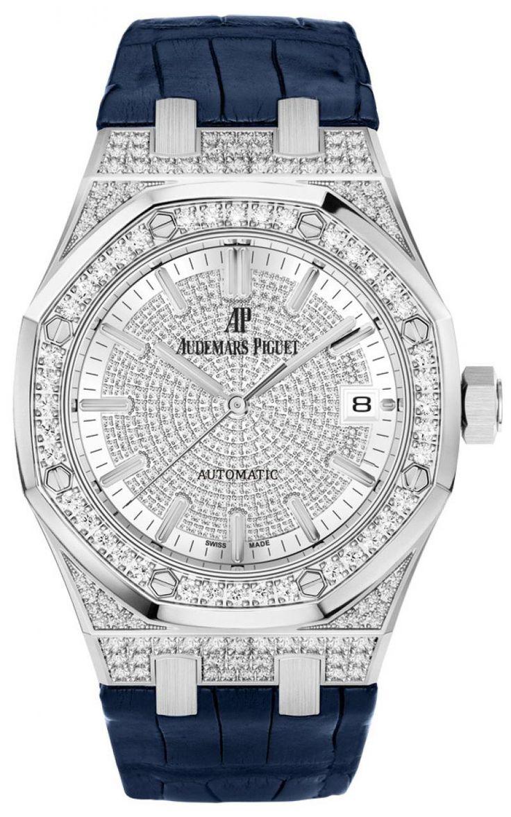 Audemars Piguet 15452BC.ZZ.D019CR.01 Royal Oak Selfwinding - швейцарские женские наручные часы - белые, золотые часы