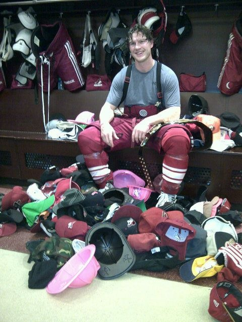 Shane Doan after his first NHL career hat trick.