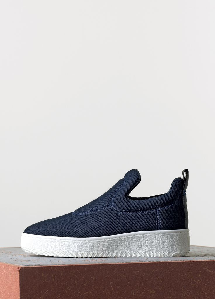 Céline Spring 2015 - Pull On Sneaker in Navy Jacquard