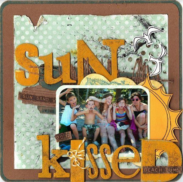 Sun Kissed, Beach Bums Canadian Scrapbooker - June 2013 A {Little} Dab of Glue