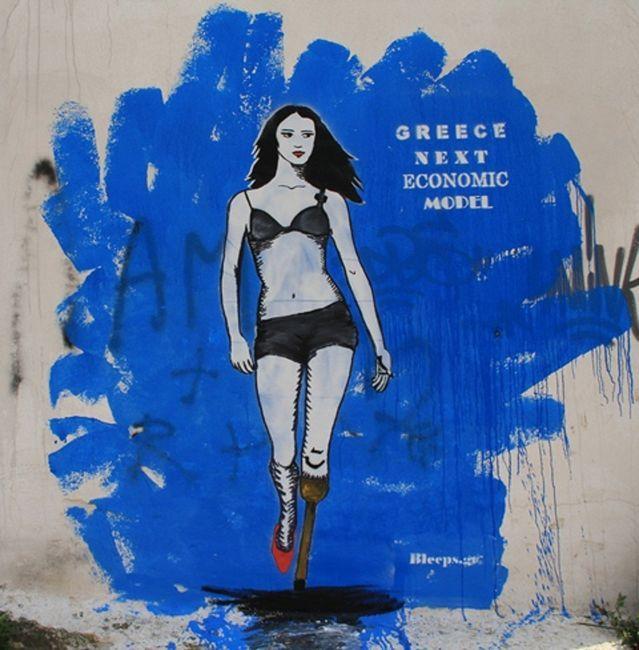 Street Art Par Bleeps.gr - Athenes (Grece)   Apr 2011